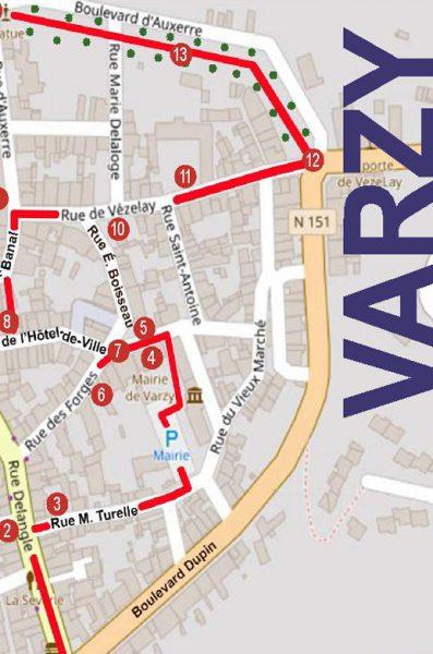 Plan de Varzy
