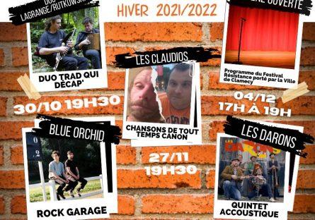 Programmation Hiver 2021/2022 à la Brasserie de la canoterie