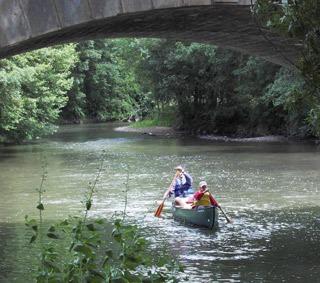 Balade en canoë sur l'Yonne